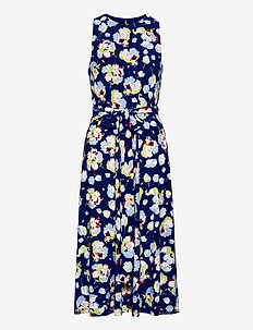 Floral Jersey Dress - sommerkjoler - sporting royal/bl