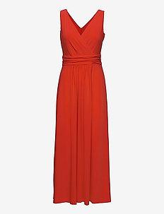 Jersey Sleeveless Dress - sommerkjoler - bright hibiscus