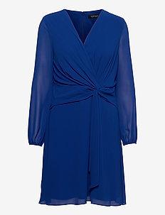 Georgette Long-Sleeve Dress - cocktailjurken - sapphire star
