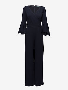 Crepe Bell-Sleeve Jumpsuit - LIGHTHOUSE NVY