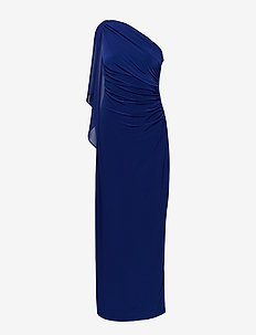 Georgette-Cape Gown - RICH SAPPHIRE