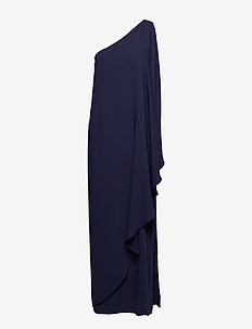 Cape One-Shoulder Gown - LIGHTHOUSE NAVY