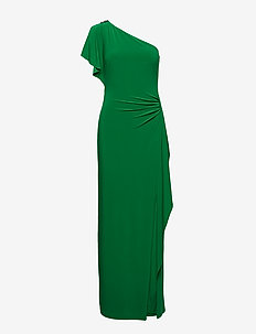 Brooch One-Shoulder Gown - CAMBRIDGE GREEN
