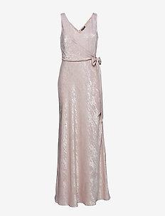 Metallic Jacquard Dress - ROSE
