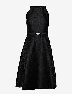 PETRAH-SLEEVELESS-COCKTAIL DRESS - BLACK