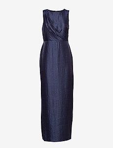 Shimmer Column Gown - LIGHTHOUSE NAVY