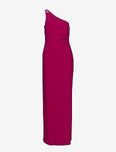 Jersey One-Shoulder Gown - maksimekot - bright fuchsia