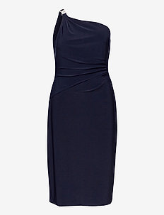 One-Shoulder Jersey Cocktail Dress - cocktail dresses - lighthouse navy
