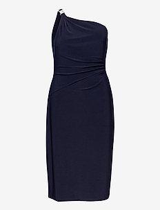One-Shoulder Jersey Cocktail Dress - cocktailkjoler - lighthouse navy
