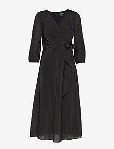 180H-FLD MTLC OTM-AVIAH - wrap dresses - black