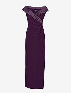 MID WEIGHT MJ-LONG GOWN W/ COMBO - RAISIN