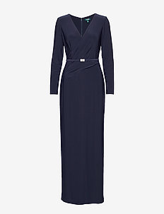 MID WEIGHT MJ-LONG GOWN W/ TRIM - LIGHTHOUSE NAVY