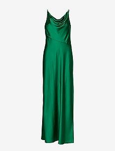 Satin Cowlneck Gown - maxi kjoler - malachite