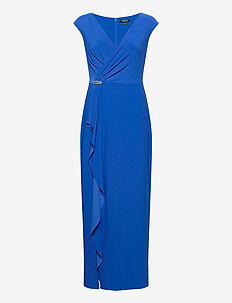 CLASSIC MJ-LONG GOWN W/ TRIM - wrap dresses - portuguese blue