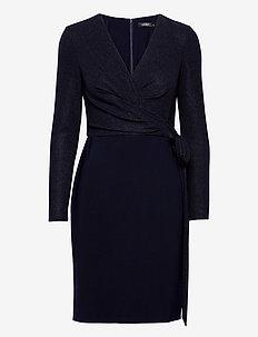 Metallic Jersey Dress - cocktail dresses - lighthouse navy