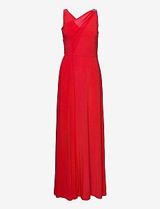 Jersey-Georgette Sleeveless Gown - kveldskjoler - african flower