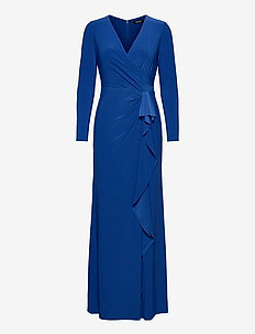 Ruffle-Trim Jersey Gown - kveldskjoler - sapphire star