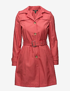 Cotton-Blend Belted Trench - CHERRY BLOSSOM