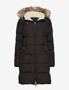 Quilted Down Jacket - padded coats - black
