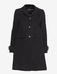 Wool-Blend Coat - BLACK