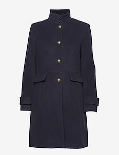 Wool-Blend Coat - REGAL NAVY