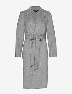 DOUBLE FACE WOOL-DF WOOL WRAP - wełniane płaszcze - pale grey