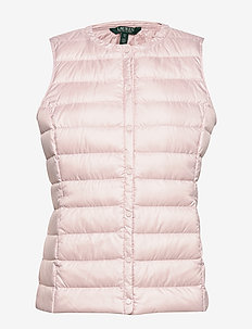 PEARL SHEEN-HOZIONTAL QUILT VEST - blush