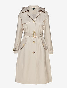 Cotton-Blend Trench Coat - CLAY