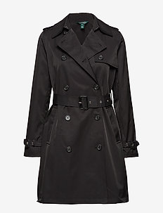 COTTON NYLON-TRENCH PKT - trench coats - black