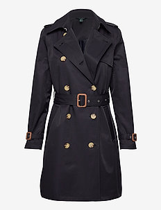 COTTON NYLON-TRENCH PKT - trenchcoats - dk navy