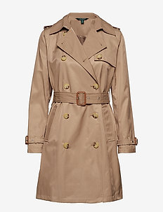 COTTON NYLON-TRENCH PKT - trenchcoats - sand