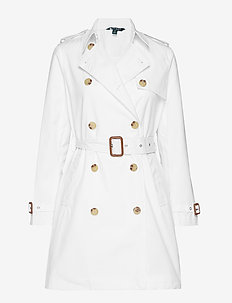 COTTON NYLON-TRENCH PKT - WHITE