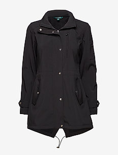 SOFTSHELL-SOFT SHELL ZIP HOOD - BLACK