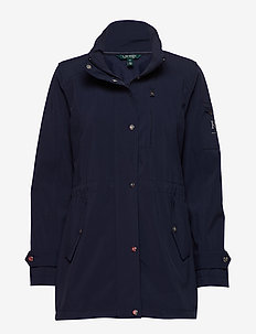SOFTSHELL-SOFT SHELL ZIP HOOD - NAVY