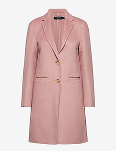 Wool-Blend Two-Button Coat - PRIMROSE