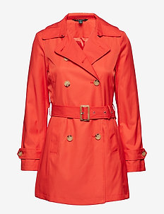 Belted Trench Coat - SUNRISE ORANGE