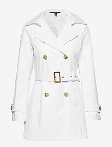 Belted Trench Coat - WHITE