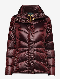 Packable Quilted Jacket - WINDSOR RED