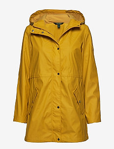 Hooded Rain Coat - DEEP YELLOW