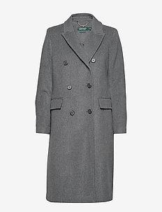 CASHMERE BLEND-DB MX PLAPEL - wełniane płaszcze - light grey