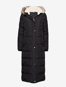 POLYESTER-HRZ QUILT MAXI BBR - manteaux d'hiver - black