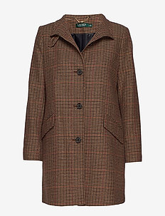 WOOL-NOVELTY BALMACAAN - NUTMEG PLAID