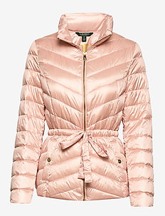 METALLIC-DRW CORD WST SFT DWN - fôrede jakker - pink macaron