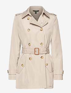 FAUX MEMORY-SOFT TAFFETA TRENCH - trenchcoats - birch