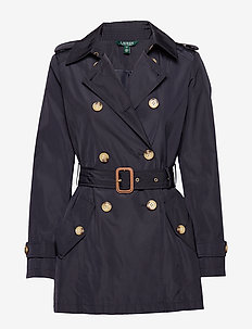 FAUX MEMORY-SOFT TAFFETA TRENCH - trenchcoats - navy