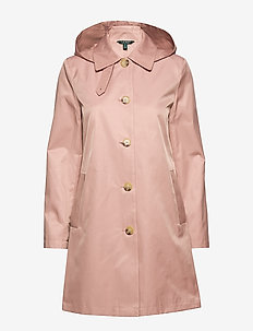 COTTON NYLON-SNGL BRST BLMCN W/HD - trenchcoats - blush
