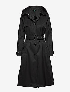 COTTON NYLON-SB MX TRNCH FX LR&HD - trenchcoats - black