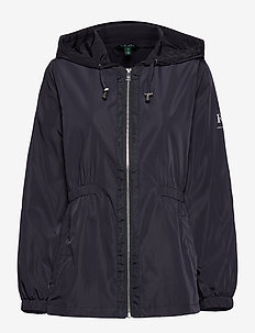 FAUX MEMORY-SKIRTED ANORACK - NAVY