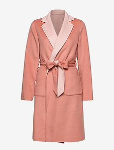 Reversible Wool-Blend Coat - villakangastakit - pink macaron/apri