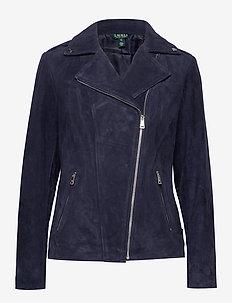 Leather Moto Jacket - nahkatakit - deep cobalt